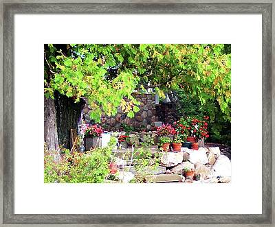 Garden Terrace Framed Print by Desiree Paquette