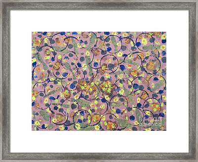 Garden Texture Framed Print