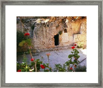 Garden Tomb Framed Print by Munir Alawi
