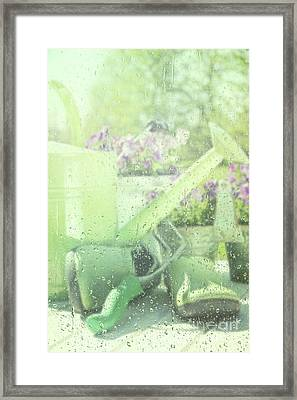 Garden Tools For Spring Planting  Framed Print by Sandra Cunningham