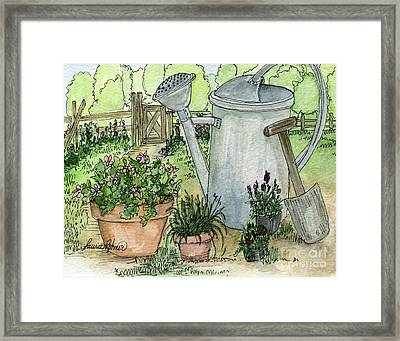Garden Tools Framed Print