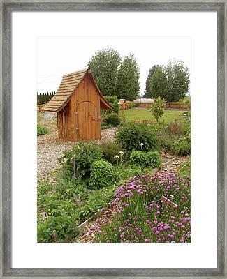 Garden Toolshed, 2005 Framed Print by Leizel Grant