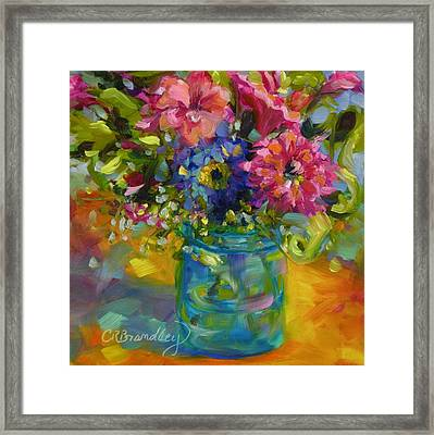 Framed Print featuring the painting Garden Treasures by Chris Brandley