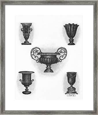 Garden Urns Framed Print by Adam Zebediah Joseph
