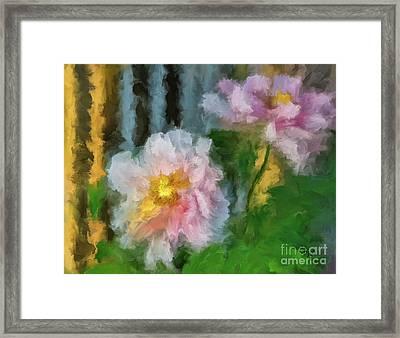 Framed Print featuring the digital art Garden Variety by Lois Bryan