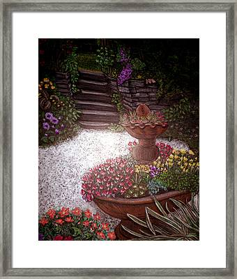 Garden View Framed Print by Michelle Audas