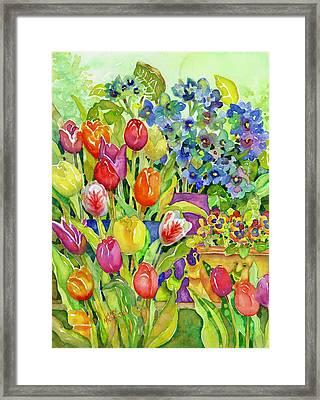 Garden Visitors Framed Print