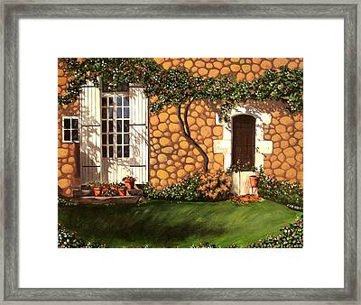Garden Wall Framed Print
