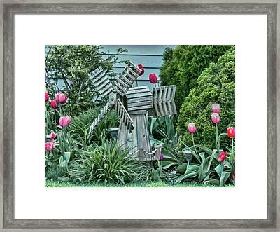 Garden Windmill Framed Print