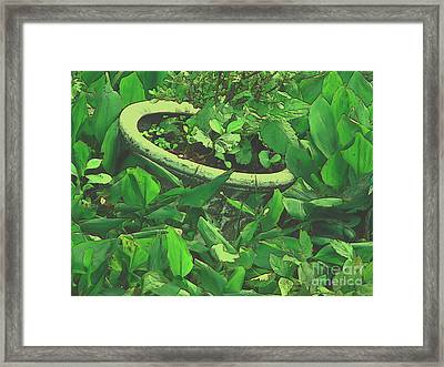 Framed Print featuring the mixed media Gardencraft by Roxy Riou
