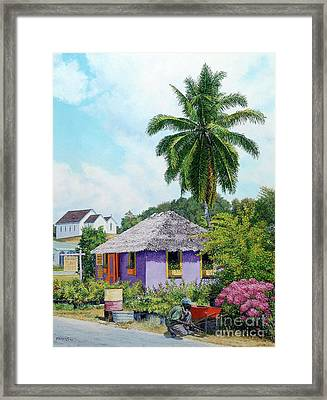 Gardener Hut Framed Print
