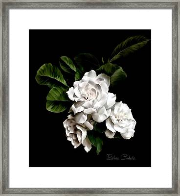 Gardenia Art Paintography Framed Print