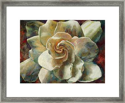 Gardenia Framed Print by Billie Colson
