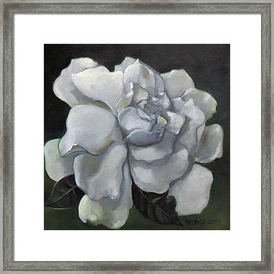 Gardenia Two Framed Print by Bertica Garcia-Dubus