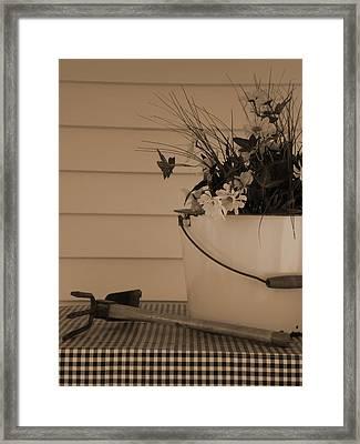 Gardening Framed Print
