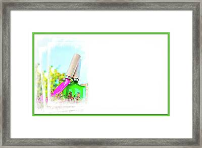 Gardening Concept Business Card Framed Print
