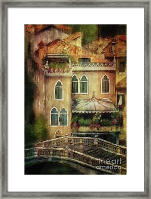 Gardening Venice Style Framed Print