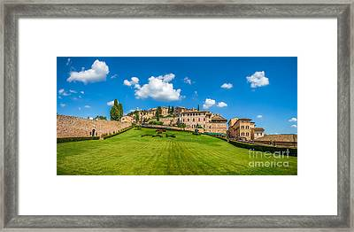 Gardens Of Assisi Framed Print by JR Photography