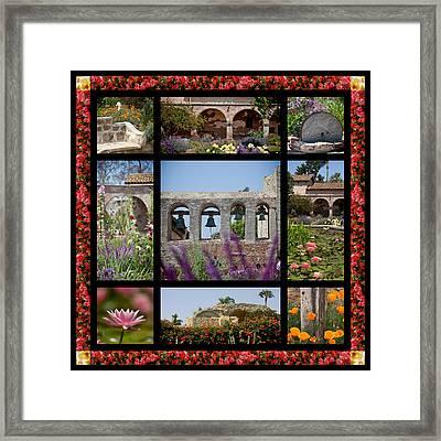 Gardens Of Mission San Juan Capistrano Framed Print