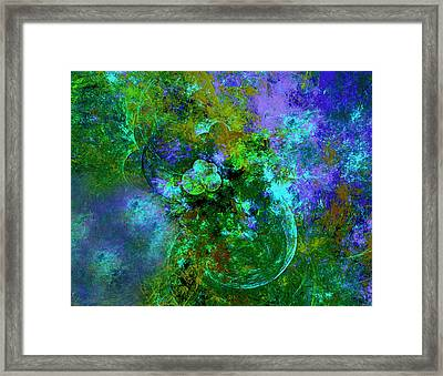 Gardens Of The Universe Abstract Moods Framed Print