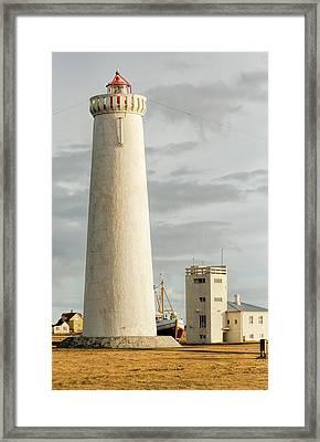 Gardskagi Lighthouse Iceland Framed Print