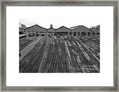 Gare Saint Lazare Framed Print