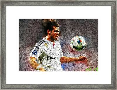 Gareth Bale  Framed Print by Enki Art