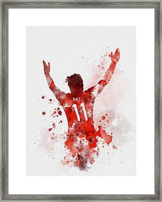 Gareth Bale Framed Print by Rebecca Jenkins