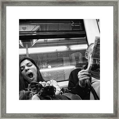 Gargantua Lady #metro #portrait Framed Print