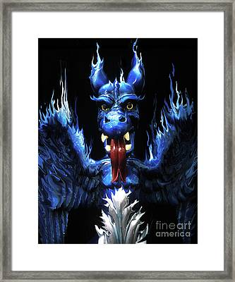 Framed Print featuring the photograph Gargoyle by Jim and Emily Bush