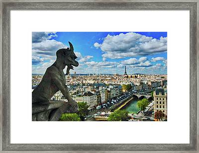 Gargoyle With A View Framed Print