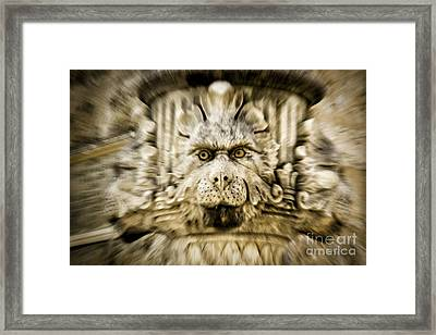 Gargoyle Type Face Framed Print by Timothy Hacker