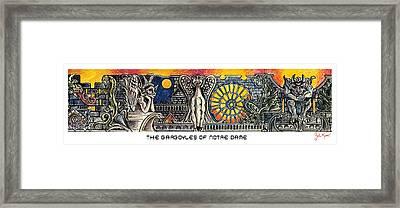 Gargoyles Of Notre Dame Framed Print by John Keaton