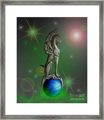 Gargoyles Over Vensus Framed Print by Cheri Doyle