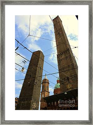 Garisenda And Asinelli Towers Framed Print