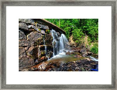 Framed Print featuring the photograph Garland Falls I by Greg DeBeck
