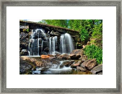 Framed Print featuring the photograph Garland Falls II by Greg DeBeck