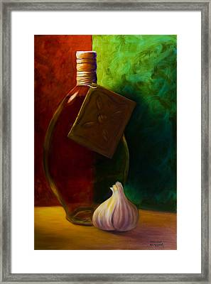 Garlic And Oil Framed Print