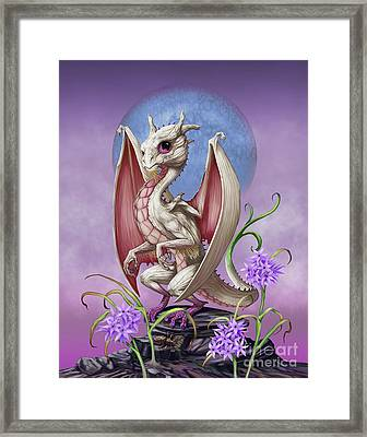 Framed Print featuring the digital art Garlic Dragon by Stanley Morrison