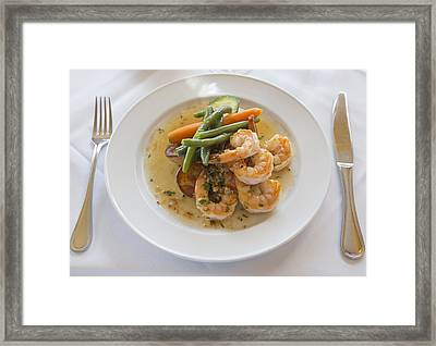 Garlic Prawns Framed Print