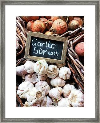 Garlic Sale Framed Print