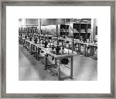 Garment Factory Interior Framed Print