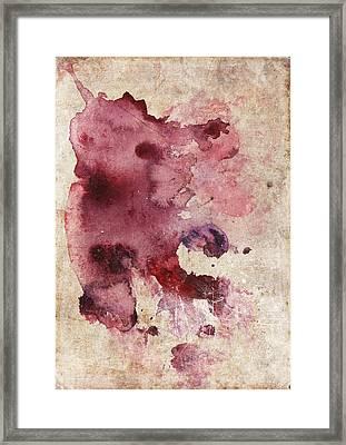 Garnet Color Splash Framed Print