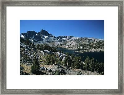 Garnet Lake And Banner Peak Framed Print