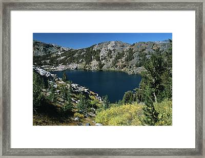 Garnet Lake Fall Color Framed Print
