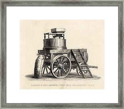 Garrett And Son S Improved Stone Mill Framed Print by Vintage Design Pics