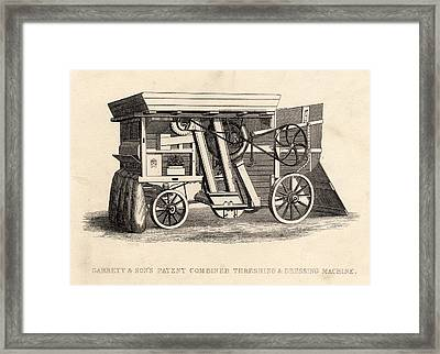 Garrett And Son S Patent Combined Framed Print by Vintage Design Pics