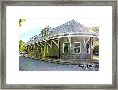Garrison New York Train Station Framed Print by William Rogers