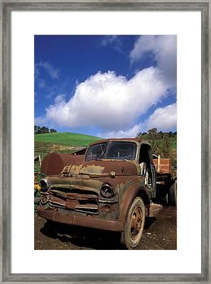 Garrod's Old Truck Framed Print by Kathy Yates