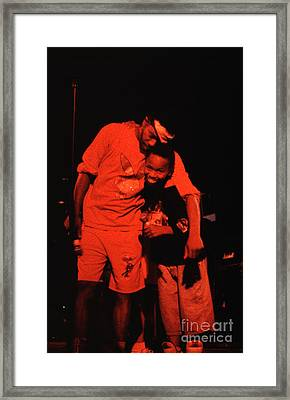 Garry Shider And Son During Rehearsal Framed Print by Neon Flash